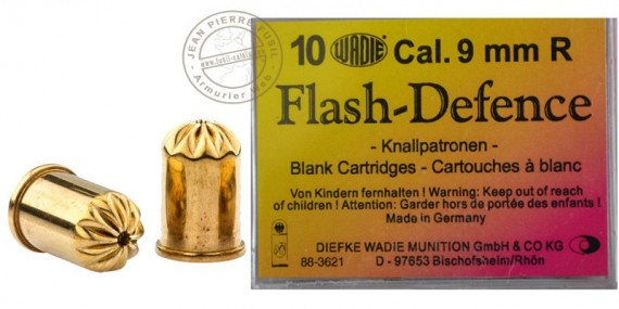 9 mm blank flash revolver cartridges / 10