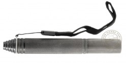 Matraque télescopique rigide PIRANHA - Stylo Pocket noire ( 32 cm )