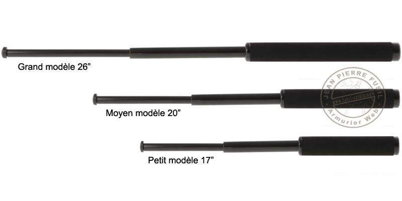 Matraque télescopique rigide noire ( 17 pouces )