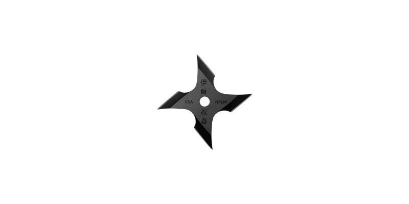 Shuriken Iga Ninja - 4 branches - Noir