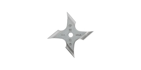 Shuriken Iga Ninja - 4 branches - Inox