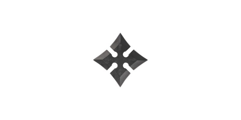 Shuriken Yagyu Ninja - Carrées - Noir