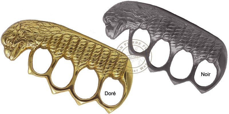 Lion's head Knuckle-duster - Golden