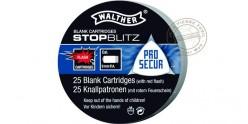 Cartouches 9mm Pistolet à blanc - Stop-Blitz 25