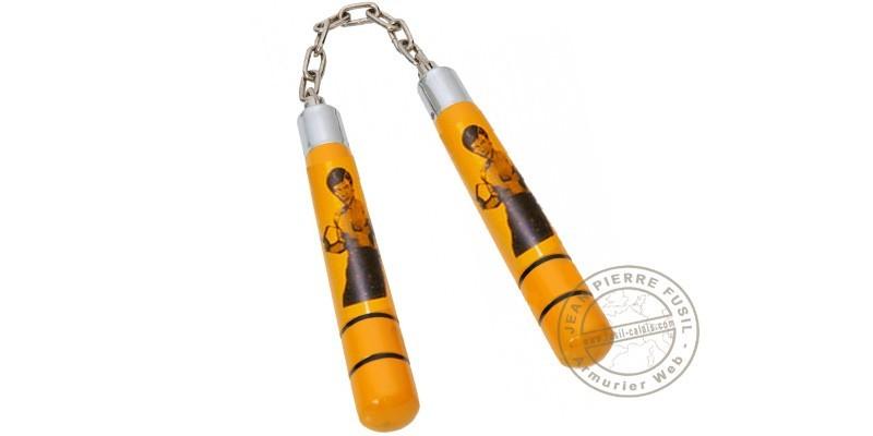 Nunchaku wood chain - Bruce Lee - Yellow - Short model