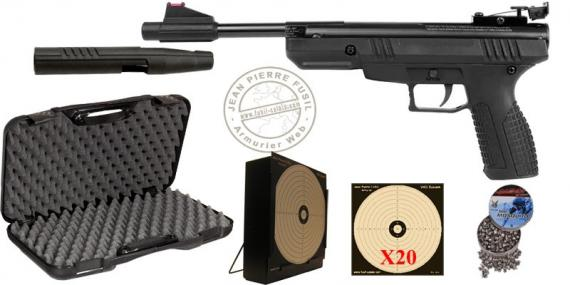 Kit Pistolet 4,5 mm CROSMAN Benjamin Trail (6.5 Joules) - PACK PROMO
