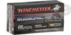 22 Lr ammunitions - WINCHESTER Subsonic SP - 2 x 50