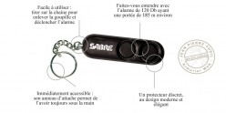 Sabre Red personal alarm with key ring - 120 Décibels