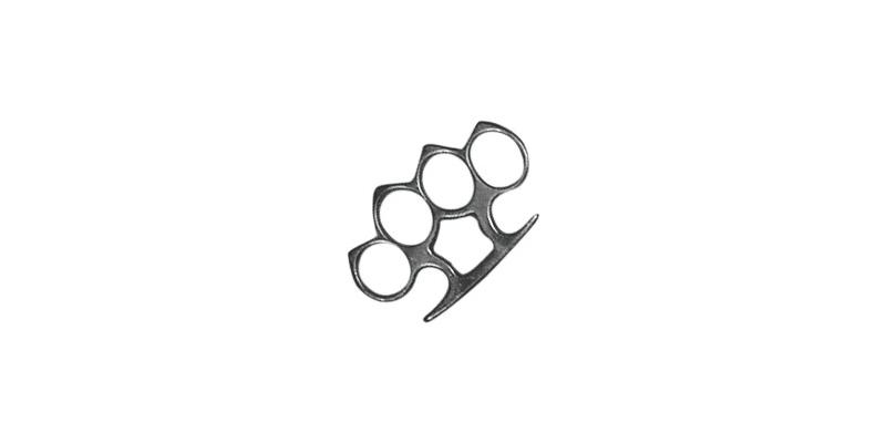 Standard Knuckle-duster with peaks - Black bronze