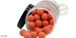DMoniac - Pot de 100 billes caoutchouc orange haute visibilité