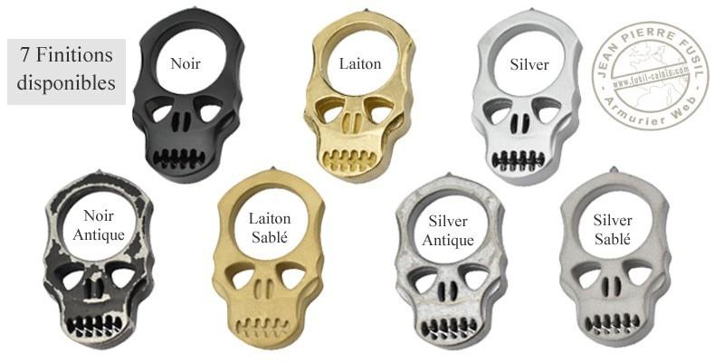 Poing américain Skull pointe