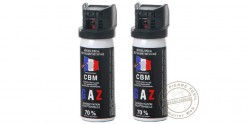 Lot de 2 bombes de défense 50ml Gaz CS - PROMOTION