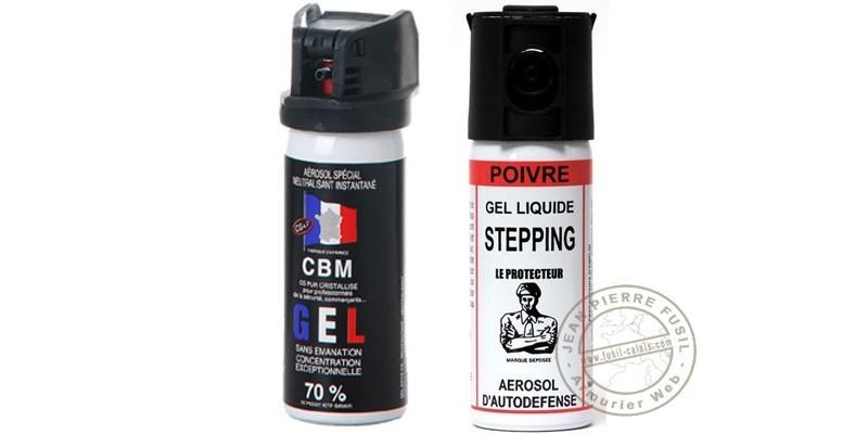 Set of 2 self-defence sprays 50ml CS gel + 50ml Pepper gel - PROMOTION