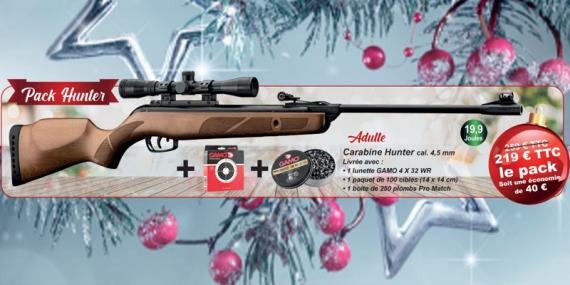 GAMO Hunter Air Rifle pack (19.9 Joules) - .177 rifle bore - CHRISTMAS 2020 OFFER