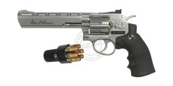 Kit Revolver 4,5 mm CO2 ASG Dan Wesson 6'' - Nickelé (3 joules) - PROMO 2012
