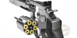 Kit Revolver 4,5 mm CO2 ASG Dan Wesson 6'' - Nickelé (3 joules) - PROMOTION