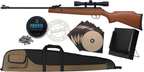 Pack carabine à plomb CROSMAN Optimus 4.5 mm (19,9 joules) - PROMO NOEL 2020