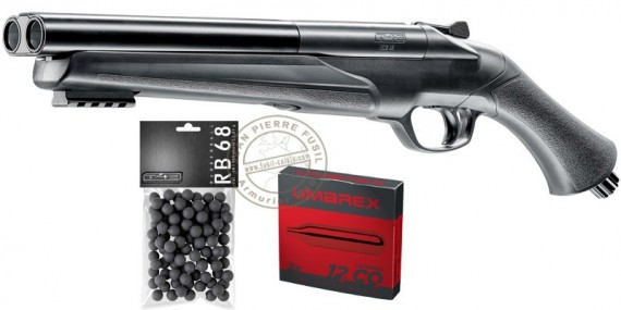 Pack fusil CO2 à balles de caoutchouc Umarex T4E HDS 68 - Cal.68 (16 Joules max)