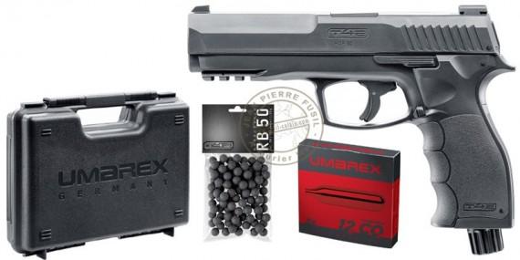 Pack pistolet CO2 à balles de caoutchouc T4E HDP 50 - Cal.50 (11 Joules max)