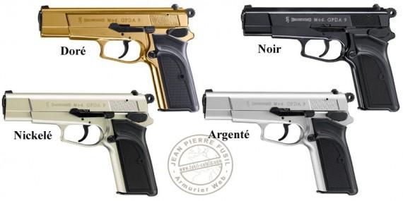 Pistolet d'alarme Umarex BROWNING GPDA Cal. 9 mm PAK