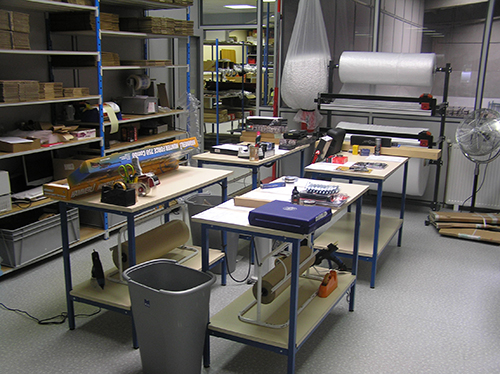 The workshop where we prepare orders